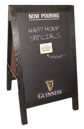 Guinness Features A-Frame Magnetic Chalkboard