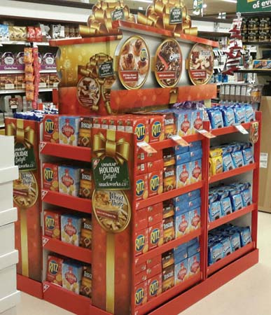Mondelez Features Holiday Recipe Pad Display