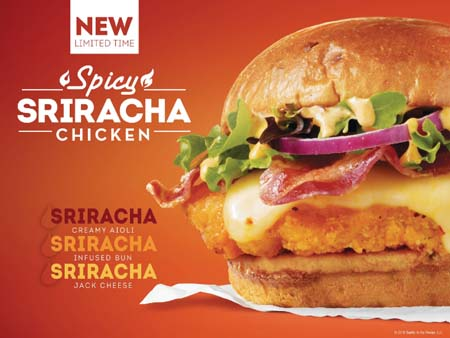 Wendy's Promotes New Spicy Sriracha Chicken Sandwich