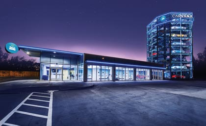 Carvana Opens Nation's Largest Coin-Operated Car Vending Machine