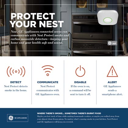 GE Connected Ovens Partner With Nest