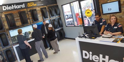 Sears Opens First DieHard Auto Center Driven By Sears