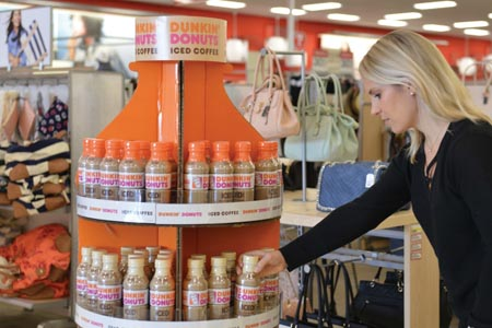 New Dunkin' Donuts Bottled Iced Coffee Now On Display