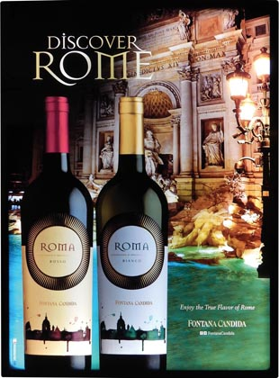 Roma Wine Features Shape-Lite LED Sign