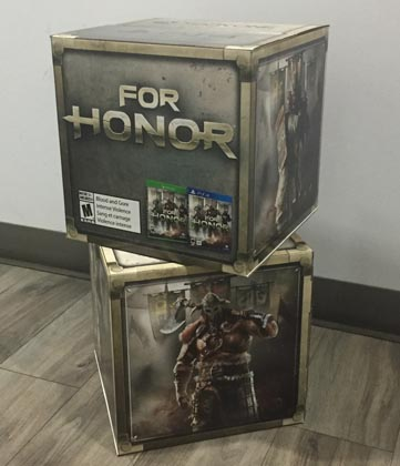Retail Cubes Support Ubisoft's For Honor Game
