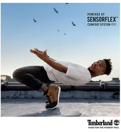 Timberland Brings SensorFlex™ To Life In 'Made To Flex' Campaign