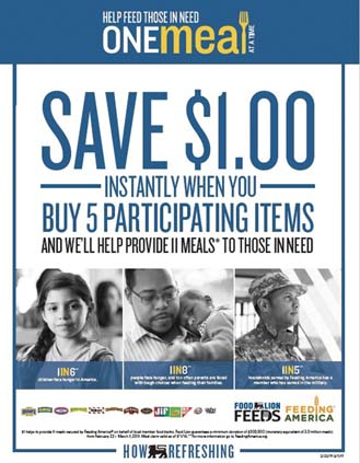 Food Lion Runs 'One Meal At A Time' Promotional Campaign