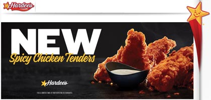 Hardee's Promotes Spicy Chicken Tenders