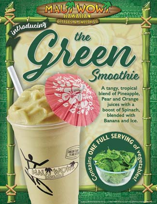 Maui Wowi Introduces   'Green' Smoothie