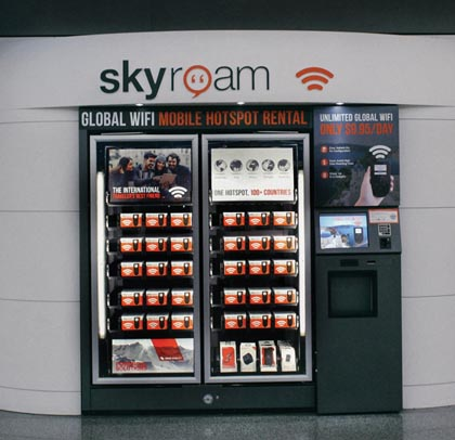 Skyroam Airport Vending Machines Launch Across U.S.