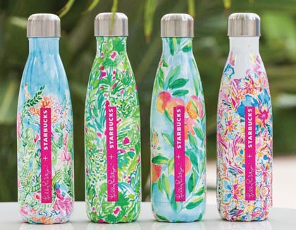 Starbucks Offers Lilly Pulitzer S'well Bottles