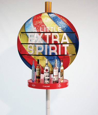 Bacardi PoleTopper Promotes Multiple Products