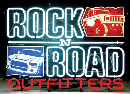 Rock N Road Outfitters' Features Neon Sign