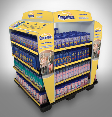 Coppertone Pallet Displays At WalMart