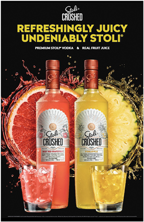 Stoli Crushed Vodka Launches With Real Fruit Juice