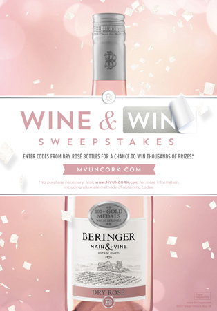 Beringer Main & Vine Dry Rosé Introduced With Uncork & Win Promotion