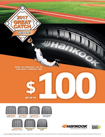Hankook Launches 'Great Catch' Rebate Promotion