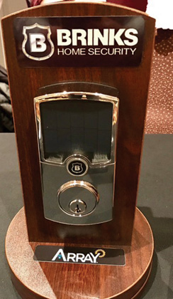 Brink's Home Security Displays ARRAY Smart Lock
