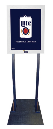 Miller Lite Features Double-Sided Poster Frame Display