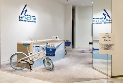 HFactor Hydrogen-Infused Water Debuts At Saks Fifth Avenue's New York Flagship