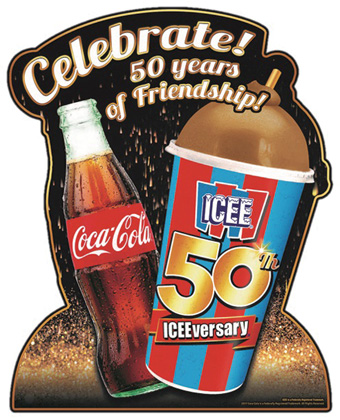 ICEE And Coca-Cola Celebrate 50 Years With Special Displays