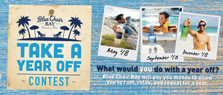 Kenny Chesney's Blue Chair Bay Rum Runs 'Take A Year Off' Contest Promotion