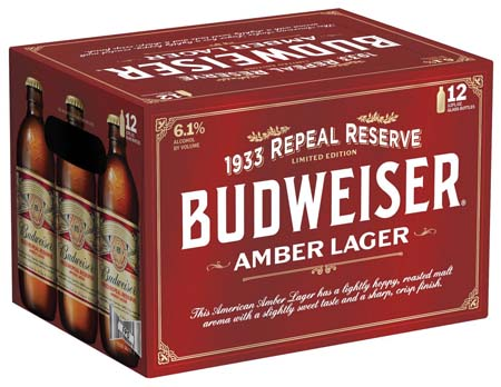Budweiser Promotes 1933 Repeal Reserve