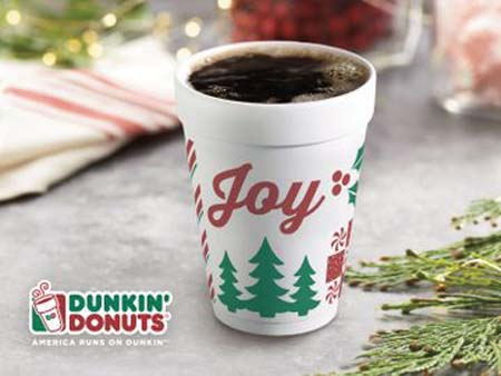 Dunkin' Donuts Celebrates Joy With  Holiday Flavors