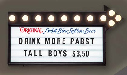 Pabst Blue Ribbon Retro Cinema Sign